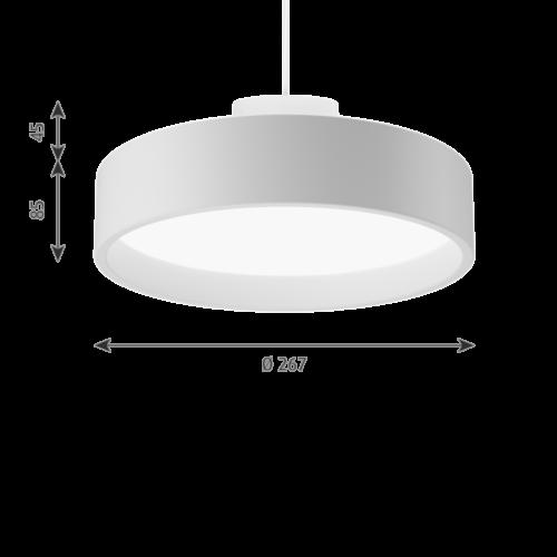 Louis Poulsen Circle Suspended hanglamp-Wit-∅ 26 cm