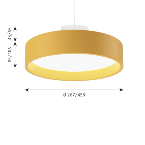Louis Poulsen Circle Suspended hanglamp-Geel-∅ 26 cm