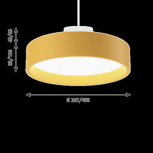 Louis Poulsen Circle Suspended hanglamp-Geel-∅ 45 cm