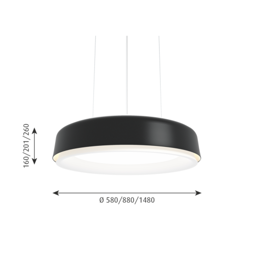 Louis Poulsen Grand Suspended hanglamp-Zwart-∅ 88 cm