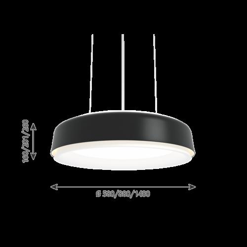 Louis Poulsen Grand Suspended hanglamp-Zwart-∅ 148 cm
