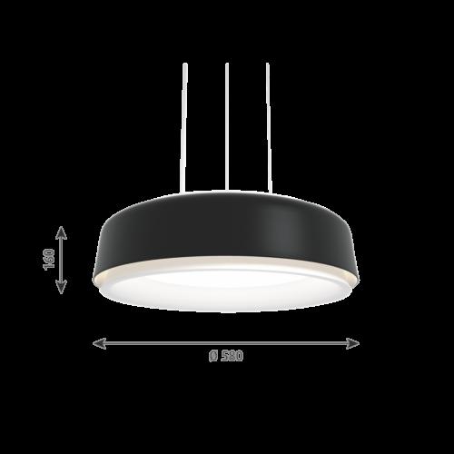 Louis Poulsen Grand Suspended hanglamp-Zwart-∅ 58 cm