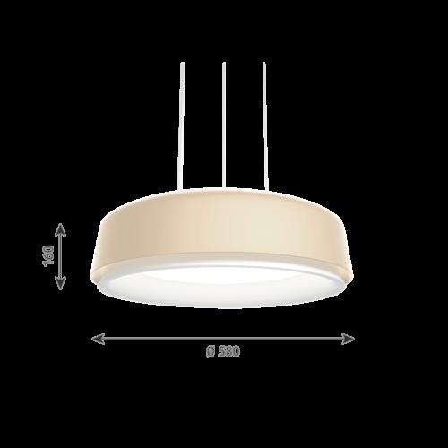 Louis Poulsen Grand Suspended hanglamp-Champagne-∅ 58 cm
