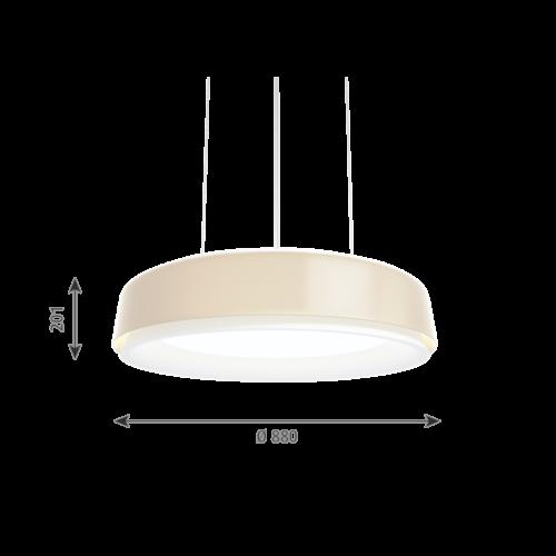 Louis Poulsen Grand Suspended hanglamp-Champagne-∅ 88 cm