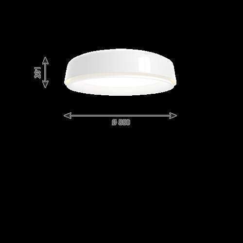 Louis Poulsen Grand Suspended hanglamp-Wit-∅ 88 cm