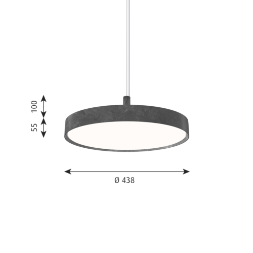 Louis Poulsen Slim Round Suspended hanglamp-Donker aluminium-∅ 44 cm