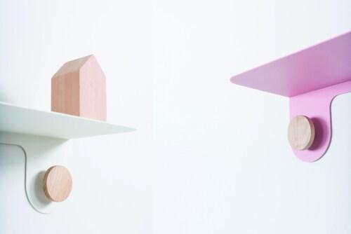 Gazzda Hook Wall shelf wandplank-Mat licht roze-60 cm
