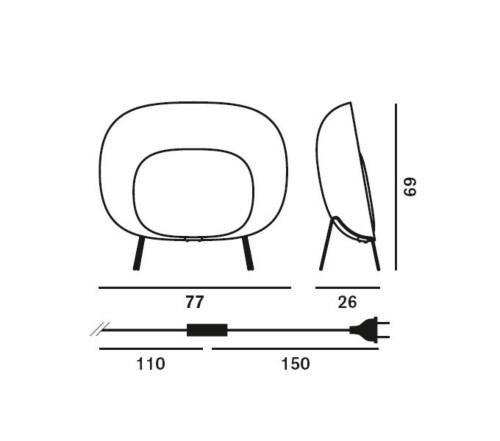 Foscarini Stewie vloerlamp-Ivoor
