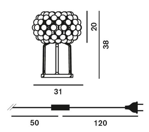 Foscarini Caboche Plus tafellamp-Transparant