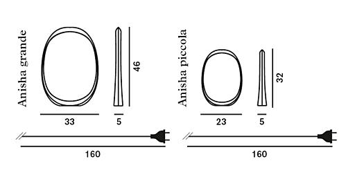 Foscarini Anisha tafellamp-Rood-Grande