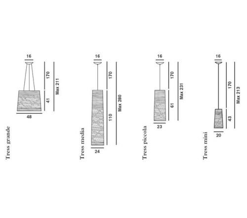 Foscarini Tress hanglamp-Mini-Zwart