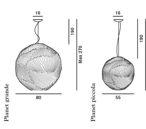 Foscarini Planet hanglamp-Wit-Piccola