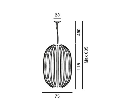 Foscarini hanglamp Plass-Grijs-Grande