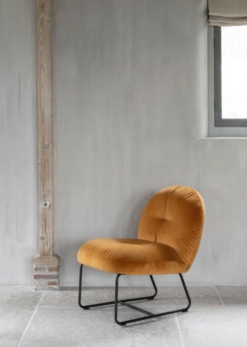 Must Living Bouton fauteuil-Oker geel