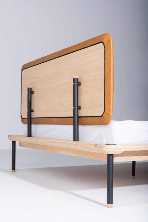 Gazzda Fina bed stoffen hoofdbord-140x200 cm