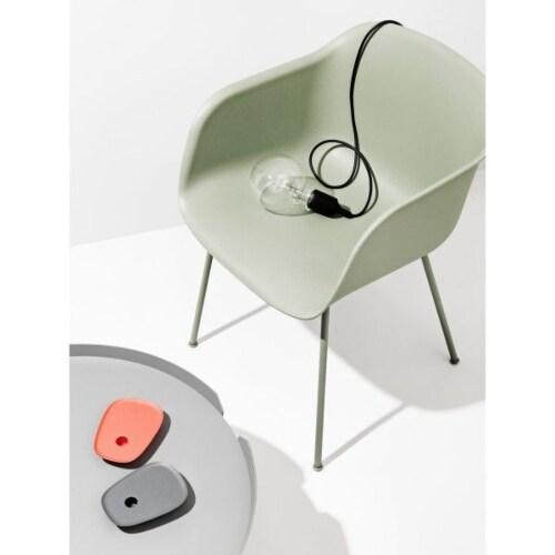 muuto Fiber Tube gestoffeerde stoel-Remix 643