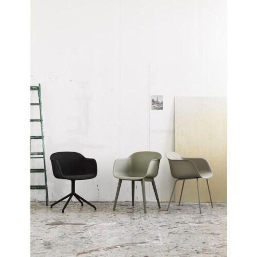 muuto Fiber Swivel stoel-Zwart