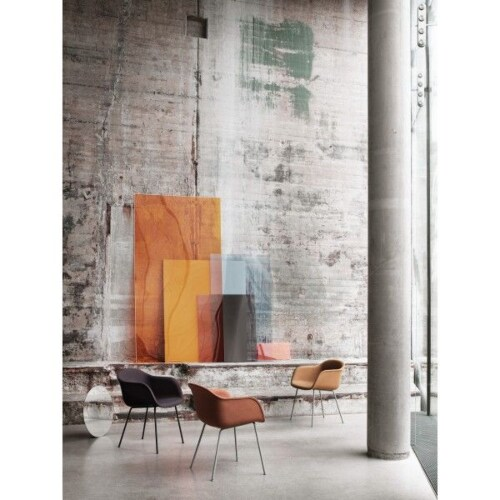 muuto Fiber Wood gestoffeerde stoel-Remix 183
