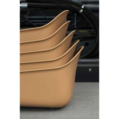 muuto Fiber Slede stoel-Dusty green