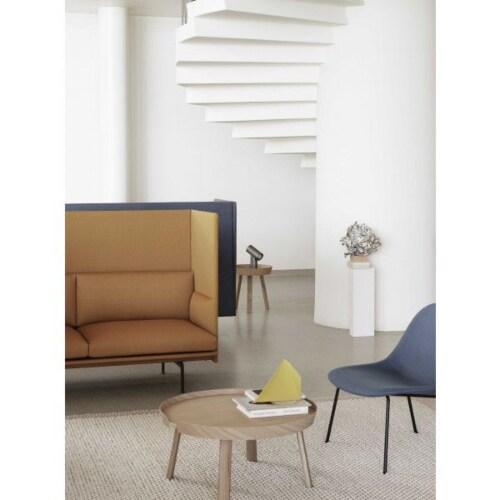 Muuto Fiber Wood fauteuil-Silk leather cognac