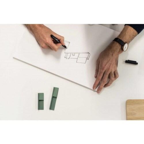 muuto Folded wandplank large-Olijf groen