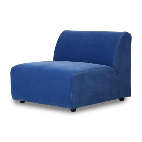 HKliving Jax bank element midden-Velvet-blauw