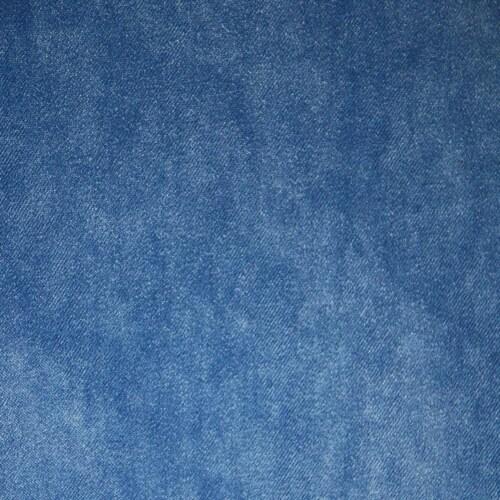 HKliving Jax bank element rond-Velvet-blauw