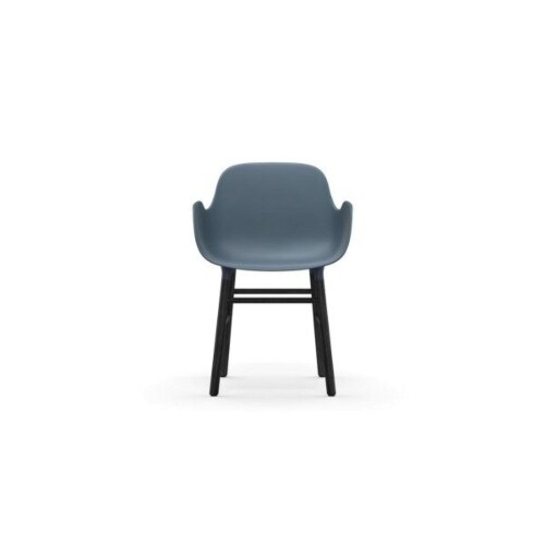 Normann Copenhagen Form Armchair stoel zwart eiken-Groen