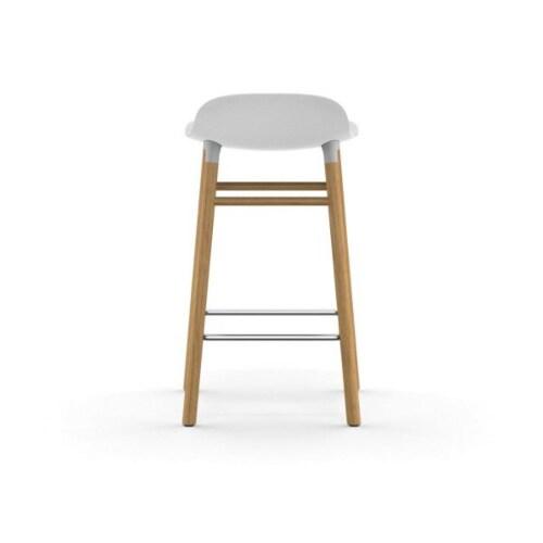 Normann Copenhagen Form Barstool barkruk eiken onderstel-Zithoogte 75 cm-Rood