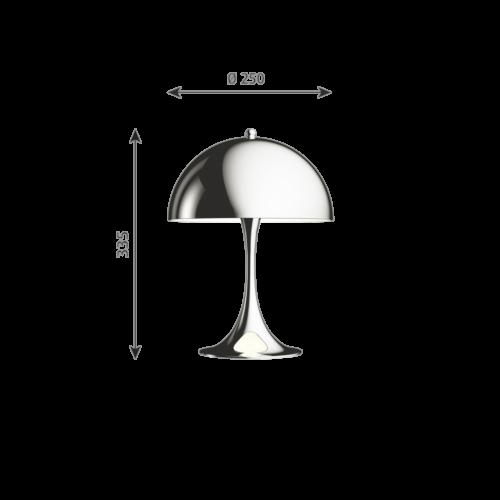 Louis Poulsen Panthella Mini tafellamp-Hooggl verchroomd