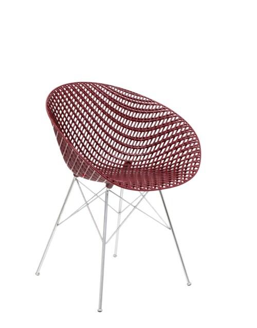 Kartell Smatrik stoel-Prune-verchroomd