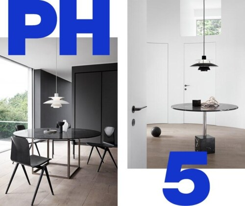 Louis Poulsen PH5 Monochrome hanglamp-Zwart