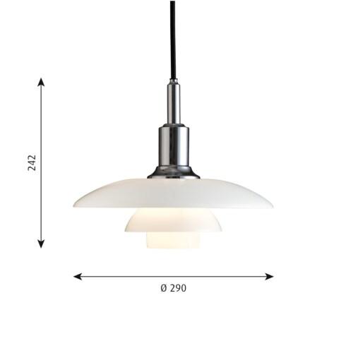 Louis Poulsen PH 3/2 Hanglamp-Chroom