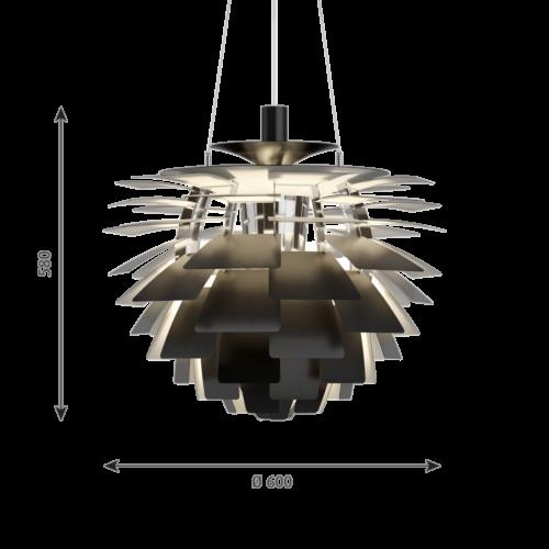 Louis Poulsen PH Artichoke hanglamp-Zwart-∅ 60 cm