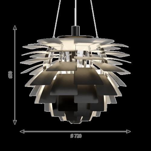 Louis Poulsen PH Artichoke hanglamp-Zwart-∅ 72 cm