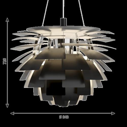 Louis Poulsen PH Artichoke hanglamp-Zwart-∅ 84 cm