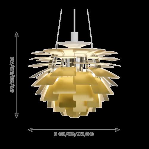Louis Poulsen PH Artichoke hanglamp-Messing-∅ 60 cm