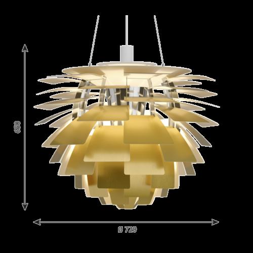 Louis Poulsen PH Artichoke hanglamp-Messing-∅ 72 cm
