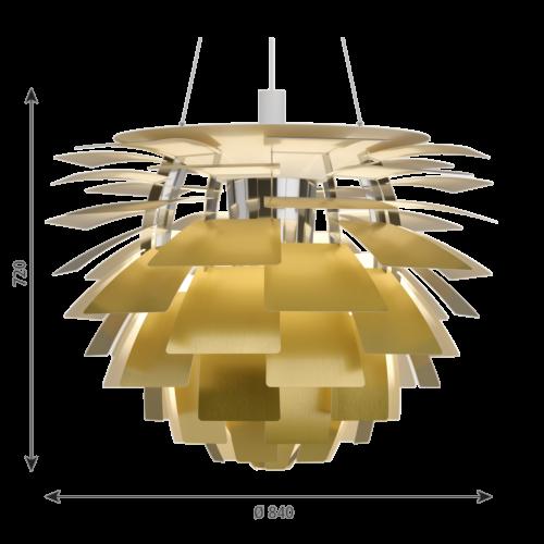 Louis Poulsen PH Artichoke hanglamp-Messing-∅ 84 cm