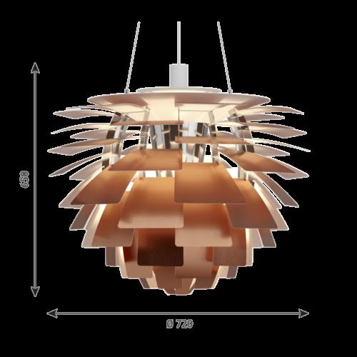 Louis Poulsen PH Artichoke hanglamp-Koper-∅ 72 cm