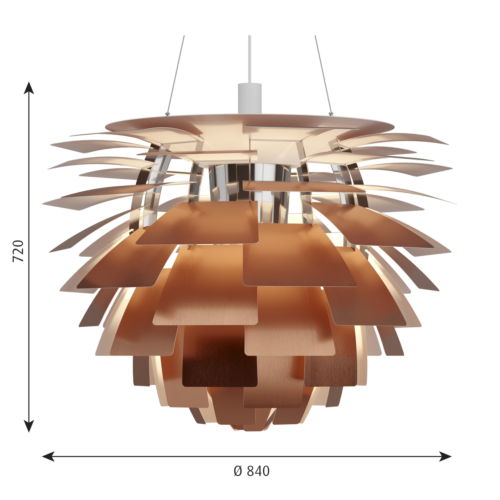 Louis Poulsen PH Artichoke hanglamp-Koper-∅ 84 cm
