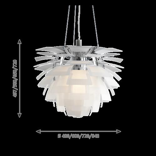 Louis Poulsen PH Artichoke Glas hanglamp-∅ 72 cm