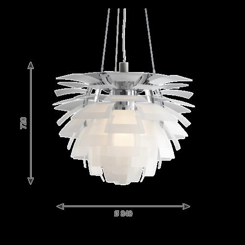 Louis Poulsen PH Artichoke Glas hanglamp-∅ 84 cm