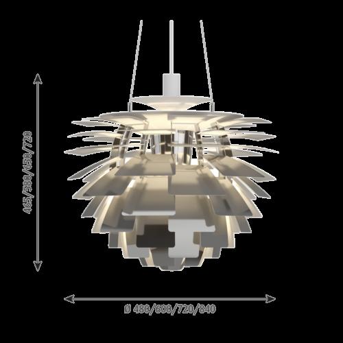 Louis Poulsen PH Artichoke hanglamp-RVS gepolijst-∅ 48 cm