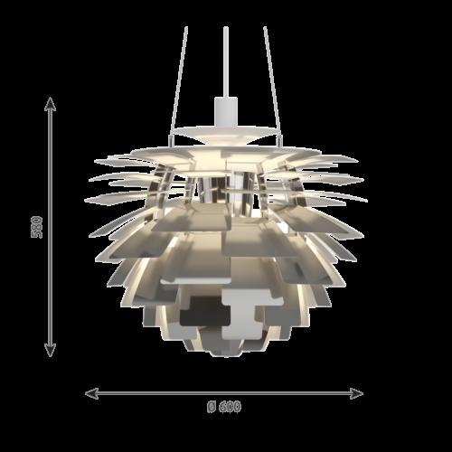 Louis Poulsen PH Artichoke hanglamp-RVS gepolijst-∅ 60 cm