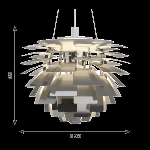 Louis Poulsen PH Artichoke hanglamp-RVS-∅ 72 cm