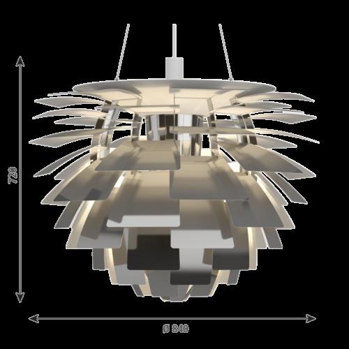 Louis Poulsen PH Artichoke hanglamp-RVS gepolijst-∅ 84 cm