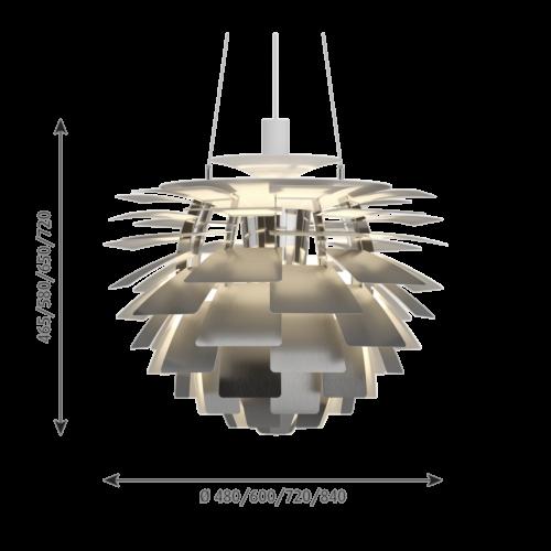 Louis Poulsen PH Artichoke hanglamp-RVS-∅ 48 cm