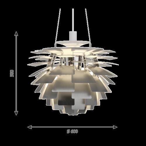 Louis Poulsen PH Artichoke hanglamp-RVS-∅ 60 cm