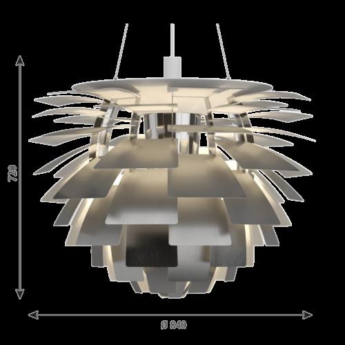 Louis Poulsen PH Artichoke hanglamp-RVS-∅ 84 cm